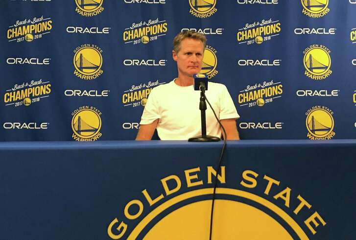Golden State Warriors' Head Coach Steve Kerr speaks to the media ahead of opening night of the 2018-2019 NBA season on Tuesday October, 16, 2018.