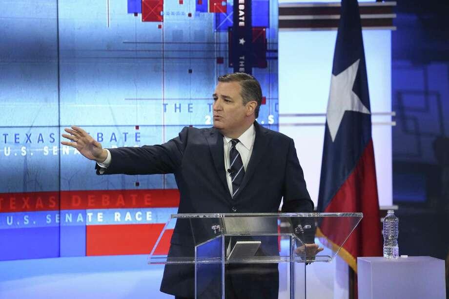 U.S. Senator Ted Cruz, R-Texas, faces U.S. Rep. Beto O'