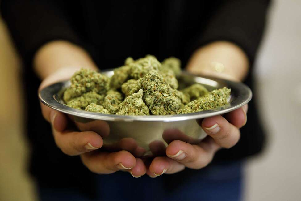 A bowl of marijuana is displayed for a photograph at the MedMen dispensary in West Hollywood, California, U.S., on Tuesday, Jan. 2, 2018. California launched legal marijuana Monday, and customers lined up to celebrate the historic moment in San Diego, Sacramento and Oakland -- some of the municipalities given the green light to start sales on January 1. Meantime, in Los Angeles and San Francisco, the state's first- and fourth-largest cities, customers were turned away empty handed. Photographer: Patrick T. Fallon/Bloomberg
