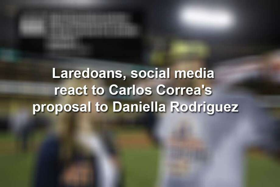 Keep scrolling to see how the internet responded to the native Laredoan's engagement news. Photo: Twitter