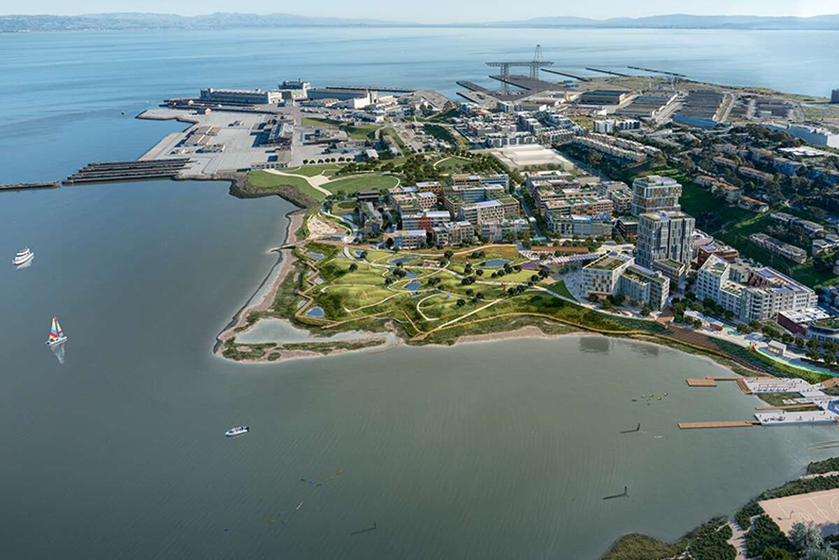 BUILD SF released these renderings of their proposed development at India Basin in San Francisco. The project will build 150,000 square feet of commercial space and 1,575 units of housing - 25 percent of which would be affordable - and several acres of parks and public spaces.