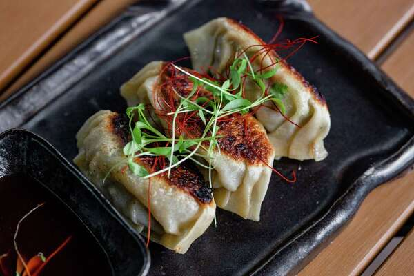 Carnitas gyoza at Shun Japaense Kitchen, a new restaurant at 2802 S. Shepherd.