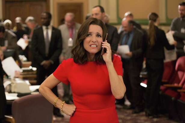 """Julia Louis-Dreyfus in a sixth-season episode of HBO's """"Veep,"""" for which she has won six consecutive Emmy Awards."""