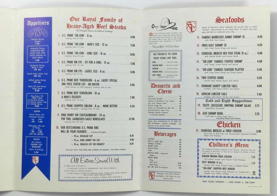 Right-click and open the photo to see some of the prices at the steakhouse.