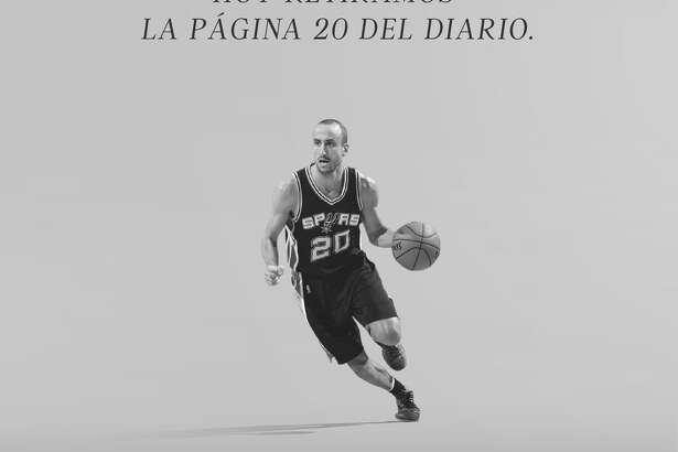 Ole, Argentina's largest sports daily, paid tribute to Manu Ginobili by leaving its page 20 largely blank Wednesday except for a photo and touching words.