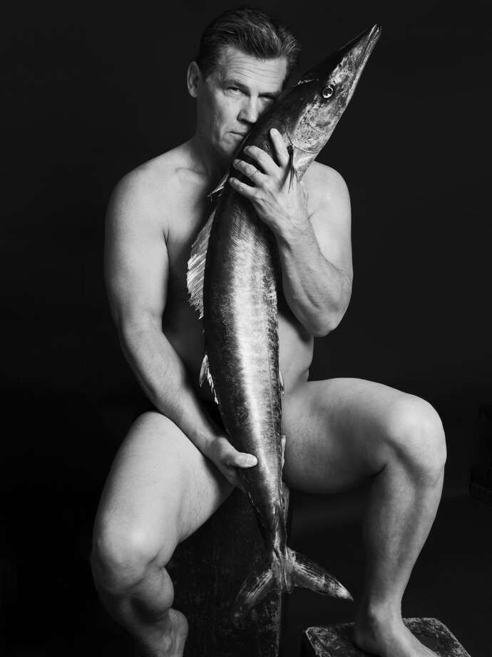 Josh Brolin poses with a wahoo as part of the Fishlove photo campaign to stem overfishing in European waters. Photo: Alan Gelati/Fishlove