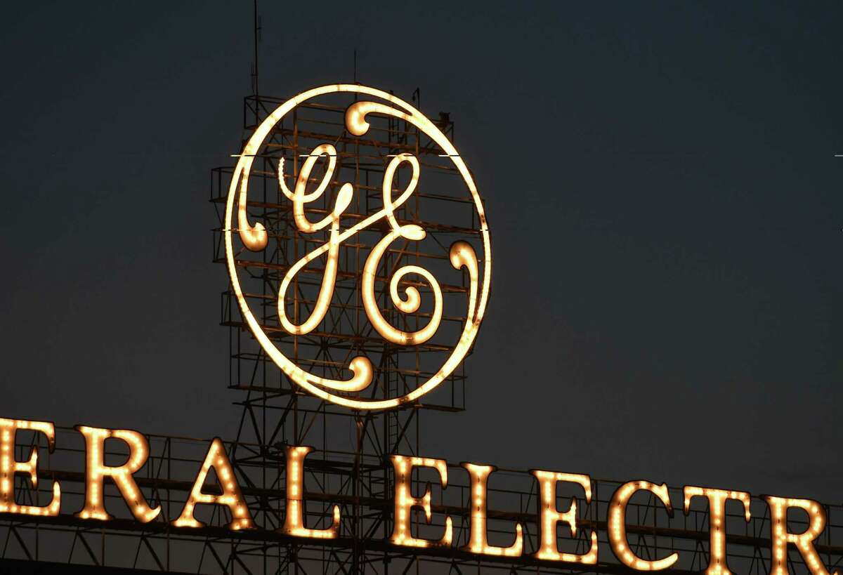 The General Electric sign is seen from Edison Avenue (Will Waldron/Times Union)