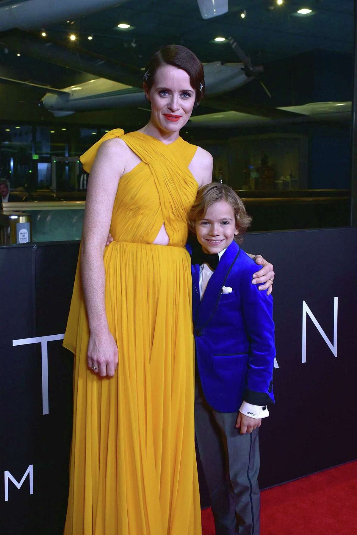 Actors Claire Foy and Gavin Warren attend the
