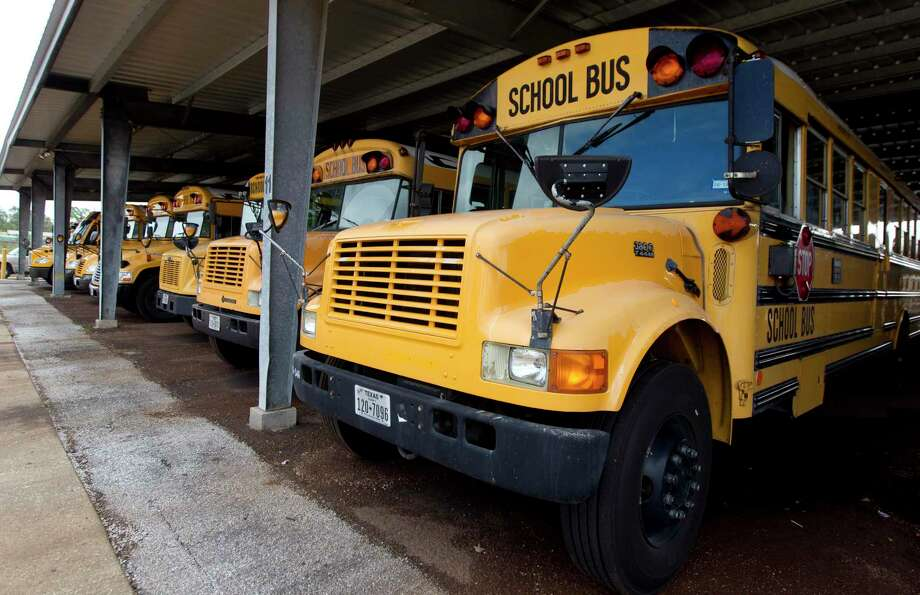 School buses are seen at the Conroe ISD bus barn, Thursday, Nov. 9, 2017, in Conroe Photo: Jason Fochtman, Staff Photographer / Houston Chronicle / © 2017 Houston Chronicle
