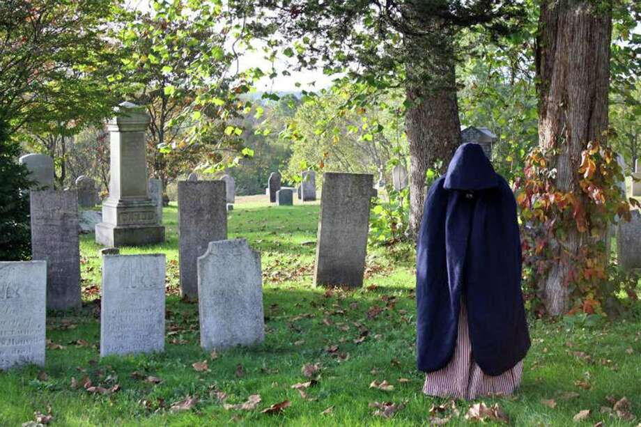 A spirit haunts the Glebe House cemetery. Photo: Glebe House Museum / Contributed Photo