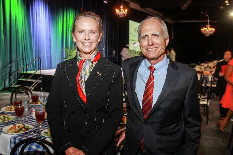 Cindy and David Fitch at the Houston Parks Board's annual luncheon. Photo: Gary Fountain, Contributor / © 2018 Gary Fountain