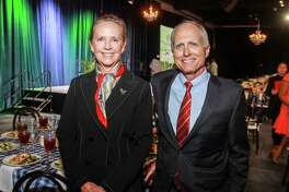 Cindy and David Fitch at the Houston Parks Board's annual luncheon.