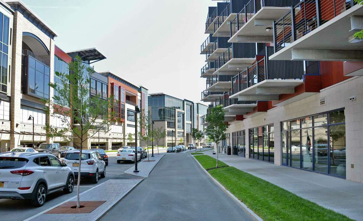 The Mohawk Harbor complex is part of the revitalized a $480 million mixed-use development. (John Carl D'Annibale/Times Union)