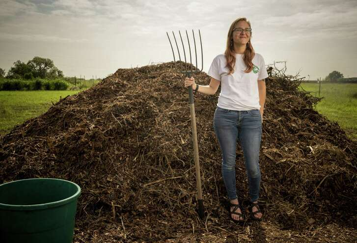 Kate Gruy Jaceldo and Betsy Gruy, not pictured, have made their Compost Queens business out of taking the food scraps from area restaurants and other businesses, and giving those to area farmers.