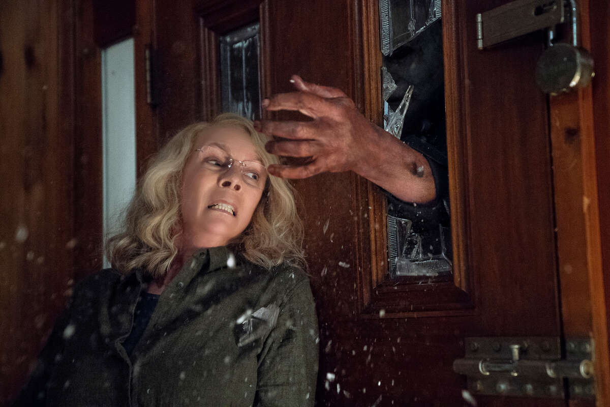 """Jamie Lee Curtis returns to her iconic role as Laurie Strode in this sequel to """"Halloween."""""""