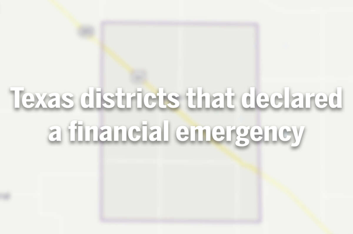 See which Texas school districts declared a financial emergency in recent years.