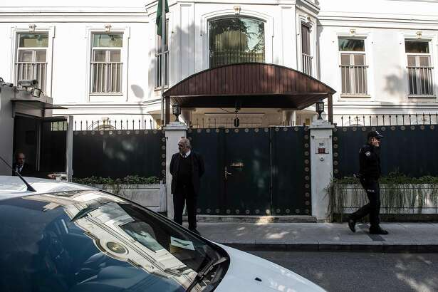 """The residence of Saudi Arabia's Consul General Mohammad al-Otaibi is pictured in Istanbul on October 16, 2018. - US top diplomat Mike Pompeo met with Saudi King Salman and the crown prince seeking to defuse a crisis over missing journalist Jamal Khashoggi, with American officials saying Riyadh had agreed the need for a """"thorough"""" probe. Khashoggi, a Washington Post contributor, vanished after entering the consulate on October 2. (Photo by Yasin AKGUL / AFP)YASIN AKGUL/AFP/Getty Images"""