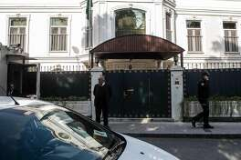 "The residence of Saudi Arabia's Consul General Mohammad al-Otaibi is pictured in Istanbul on October 16, 2018. - US top diplomat Mike Pompeo met with Saudi King Salman and the crown prince seeking to defuse a crisis over missing journalist Jamal Khashoggi, with American officials saying Riyadh had agreed the need for a ""thorough"" probe. Khashoggi, a Washington Post contributor, vanished after entering the consulate on October 2. (Photo by Yasin AKGUL / AFP)YASIN AKGUL/AFP/Getty Images"