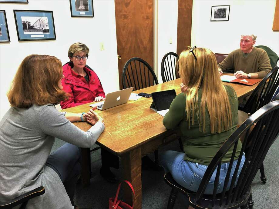 Four members of the Winchester Board of Education met for a special meeting Tuesday to discuss appointing a new member to fill a vacant seat. Photo: Leslie Hutchison / Hearst Connecticut Media
