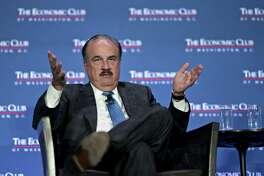 Larry Merlo, president and chief executive officer of CVS Health Corp., speaks during an Economic Club of Washington discussion in Washington, D.C., U.S., on Monday, Oct. 15, 2018. CVS Health and Aetna Inc. last week received conditional approval to proceed with their proposed $68 billion merger, one of the largest in a series of recent deals that stand to transform the U.S. health-care business. Photographer: Andrew Harrer/Bloomberg