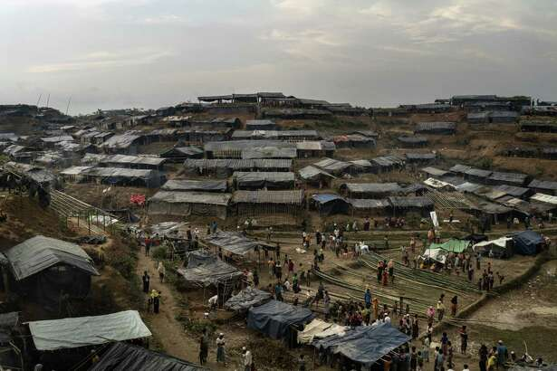 A settlement for Rohingya arrivals in Thang Khali, Bangladesh, Sept. 7, 2017. Myanmar's military has undertaken a scorched earth strategy of murder, brutality and rape against this minority population - and it isn't on Trump's radar.