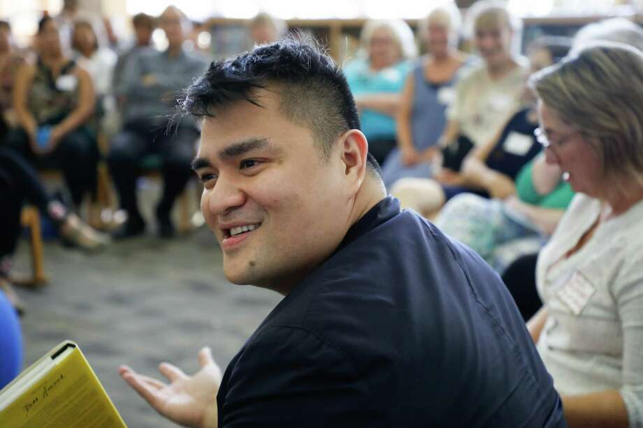 Pulitzer Prize-winning journalist and founder of Define American Jose Antonio Vargas attends a private book-launch event for his new book Dear America: Notes of an Undocumented Citizen at Mountain View High School on Sept. 11 in Mountain View, Calif. Photo: Jim Gensheimer /Special To The Chronicle / online_yes