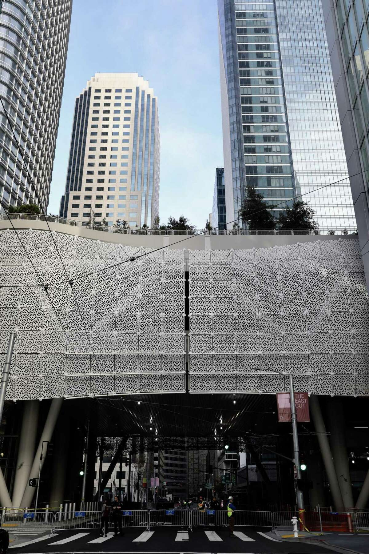 The Transbay Transit Center, seen at Howard and Fremont, is closed on Wednesday, September 26, 2018, in San Francisco, Calif. A crack was discovered yesterday in a steel beam that supports the roof garden of the new $2.2 billion Transbay Transit Center in downtown San Francisco.