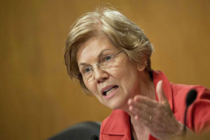Senator Elizabeth Warren, D-Mass., questions witnesses during a hearing in Washington, D.C. on Oct. 2, 2018.