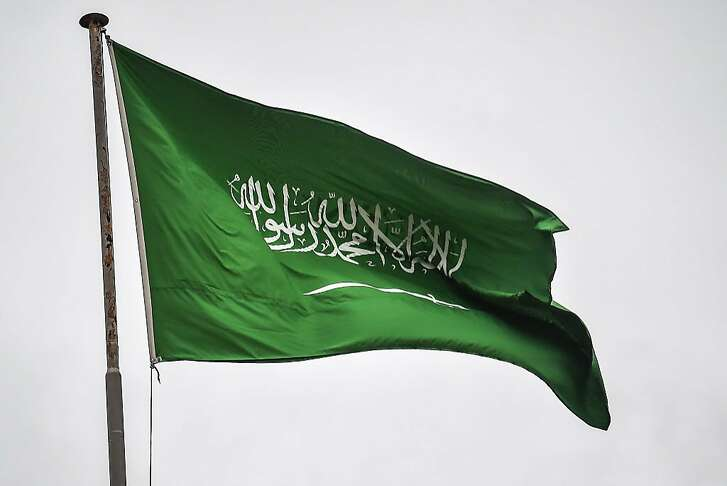 A Saudi Arabian flag flies over the consulate building in Istanbul on October 17, 2018. - Saudi Arabia's consul to Istanbul Mohammed al-Otaibion on October 16, 2018 left the Turkish city bound for Riyadh on a scheduled flight, reports said, as Turkey prepared to search his residence in the probe into the disappearance of journalist Jamal Khashoggi. (Photo by OZAN KOSE / AFP)OZAN KOSE/AFP/Getty Images