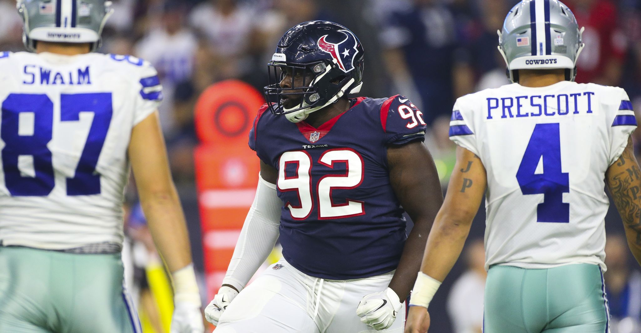 online retailer a3cf1 4d5b2 Texans pleased with defensive linemen Brandon Dunn, Angelo ...