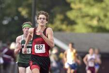 Pomperaug's Eric Rosenhein (487) finished third in the boys SWC cross country championships with a time of 16:57.56 on Wednesday at Bethel High School.