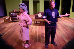 """Rehearsal for the MCT production """"Til Beth Do Us Part,"""" Oct. 11, 2018 at Midland Community Theater.  James Durbin/Reporter-Telegram"""