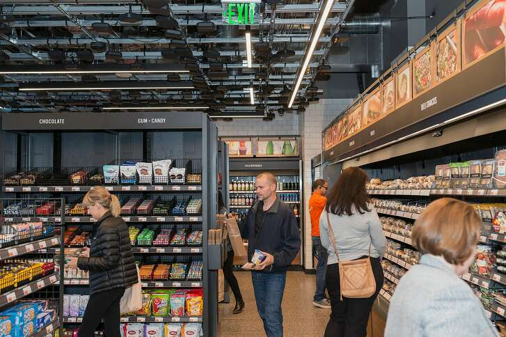 The Amazon Go store in Seattle, Sept. 19, 2018. The e-commerce giant uses its headquarters city as a living laboratory, trying out new retail and logistics models. (Eirik Johnson/The New York Times)
