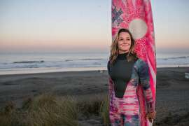 Bianca Valenti is a professional big wave surfer in San Francisco.