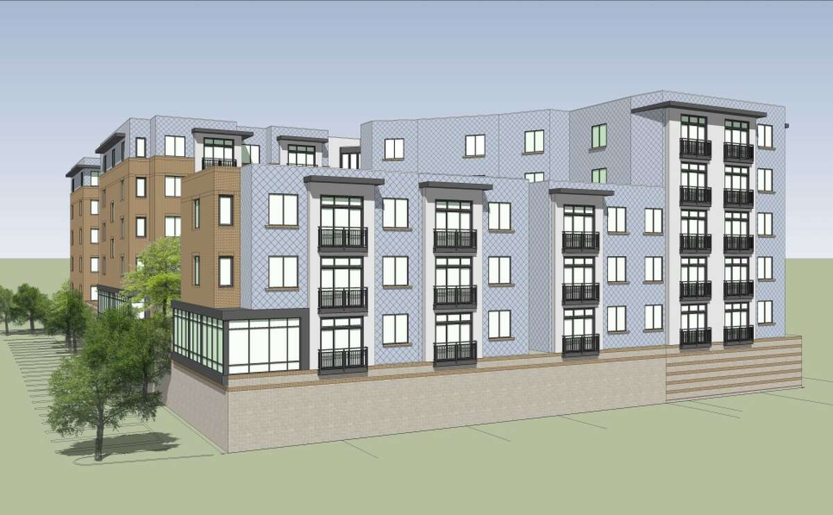 Renderings of the apartment complex Jon Grant of GSX Ventures is proposing building at 1211 Western Ave. in Albany