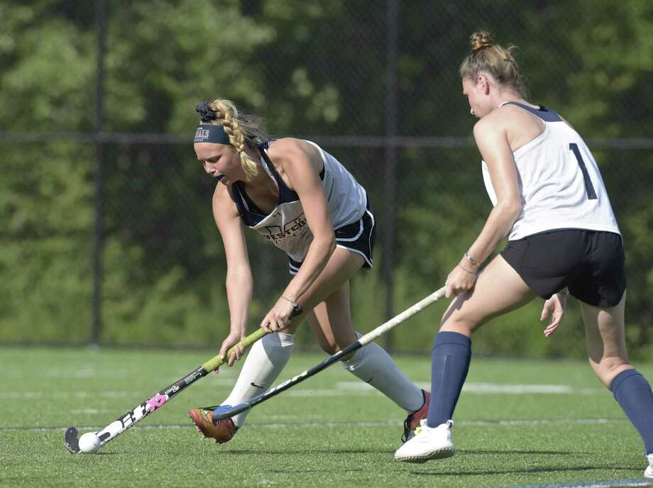 WestConn's Morgan Matthews during field hockey practice Aug. 24. Photo: H John Voorhees III / Hearst Connecticut Media / The News-Times