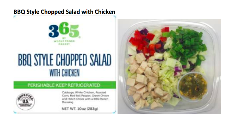 Ready-to-eat salads from Whole Foods are being recalled due to listeria, salmonella concerns