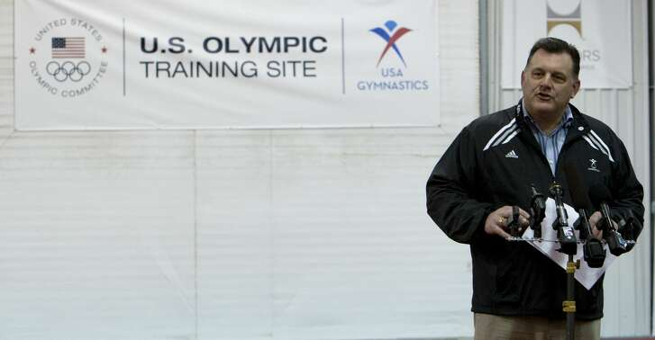HUNTSVILLE, TX - JANUARY 26:  Steve Penny, President ofUSA Gymnastics welcomes guests and media and to announce the USOC designation of the USA Gymnastics National Training Center at Karolyi Ranch as an Official U.S. Olympic Training Site and Hilton's partnership with USA Gynastics and title sponsorship of Team Hilton on January 26, 2011 in Huntsville, Texas.  (Photo by Bob Levey/Getty Images for Hilton)