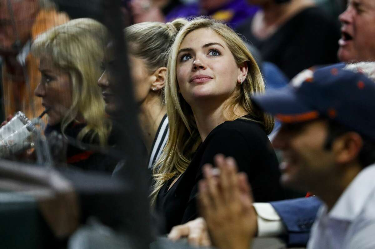 PHOTOS: Kate Upton at Wednesday night's Astros game Kate Upton watches Game 4 of the American League Championship Series at Minute Maid Park on Wednesday, Oct. 17, 2018, in Houston. Browse through the photos above to see more of Kate Upton at Game 4 of the Astros-Red Sox series ...
