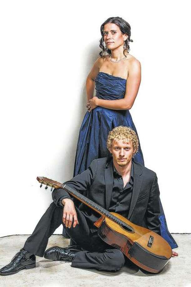 Laura Fraticelli and Johannes Möller make up the Möller-Fraticelli Guitar Duo, a classical guitar pairing that blends Möller's Swedish roots and Fraticelli's Argentinean roots into a sound that is uniquely theirs. The duo will perform Wednesday at Illinois College as the opening concert for IC's Engelbach-Hart Music Festival. Photo: Photo Provided