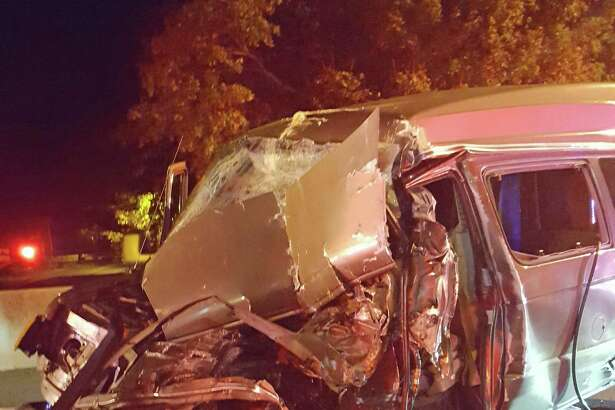 A driver was seriously injured after his van rear-ended a tractor-trailer truck on southbound I-95 after 1 a.m. on Thursday, Oct. 18, 2018. The impact of the crash crushed the front of the van beneath the tractor-trailer. The injured driver received continual patient care from firefighters who entered the vehicle and remained with the driver until he was extricated and transported to the hospital by Westport EMS. It took a total of 21 firefighters just over an hour to complete the extrication.