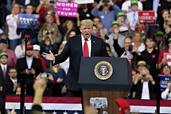 President Donald Trump at a rally in Council Bluffs, Iowa, on Oct. 9, 2018.
