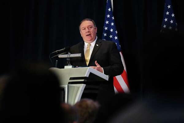 Mike Pompeo, U.S. secretary of state, speaks during a news conference in Singapore, on June 11, 2018.
