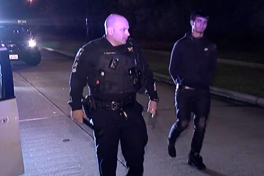 Two people were arrested in Montgomery County Wednesday night after they allegedly ambushed a pizza delivery man, stealing his money, Pepsi and pies. Photo: Scott Engle / Montgomery County Police Reporter