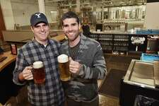 Trumbull resident Shaun Wilson and his brother Tim Wilson, of Orange are co-owners of East Rock Brewing Company at East Rock Center held a soft opening Wednesday, October 17, 2018 for family and friends. The brewery located at 285 Nicoll Street in New Haven opens today at 3 p.m.