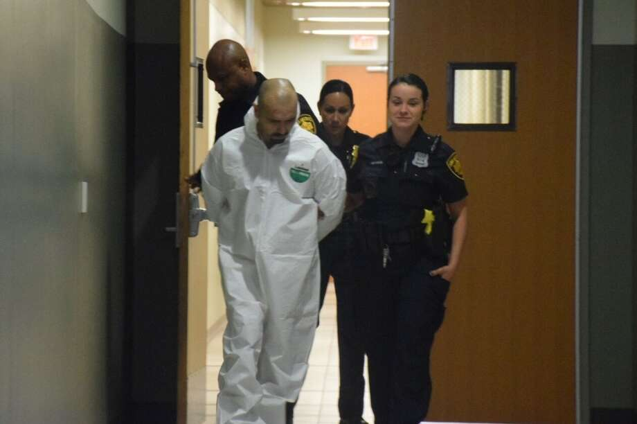 Jose Sanchez is accused of carrying out a double shooting at about 2:30 a.m. Wednesday in the 6200 block of Old Pearsall Road. Photo: Caleb Downs / San Antonio Express-News