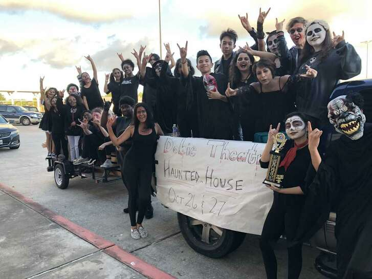 Eager teen actors are primed to scare guests to Dobie High School's haunted house.