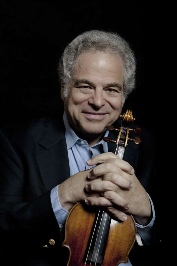 On stage: Itzhak Perlman and 'Evil Dead the Musical'