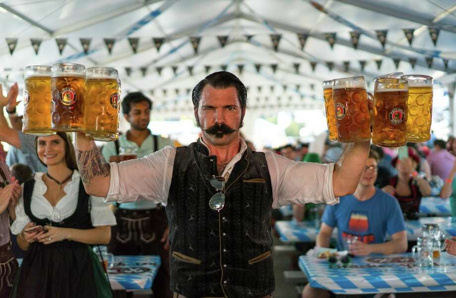 King's BierHaus in Houston will hold its annual Oktoberfest celebration Oct. 19-21 with games, music, prizes and, yes, a lot of beer. Scenes from the 2017 Oktoberfest. Photo: King's BierHaus