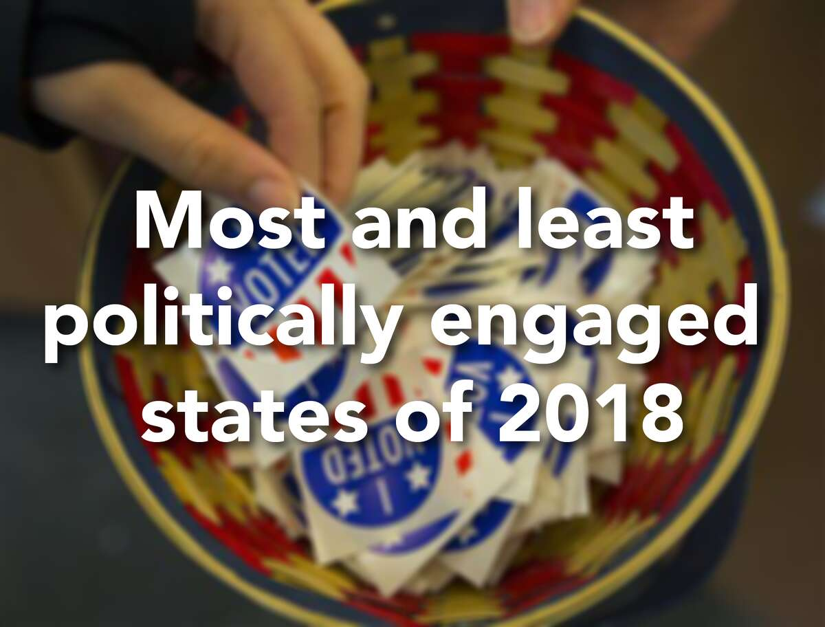 Financial site WalletHub ranked the most and least politically engaged states of 2018. The study compared all 50 states plus the District of Columbia on 10 key metrics and graded them on a 100-point scale, with a score of 100 representing the most political engagement. Click through the slideshow to see the most and least politically engaged states in the country.